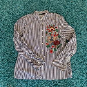 Zara women button blouse